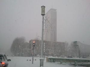 Rouen sous la neige