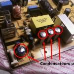 Condensateurs défectueux